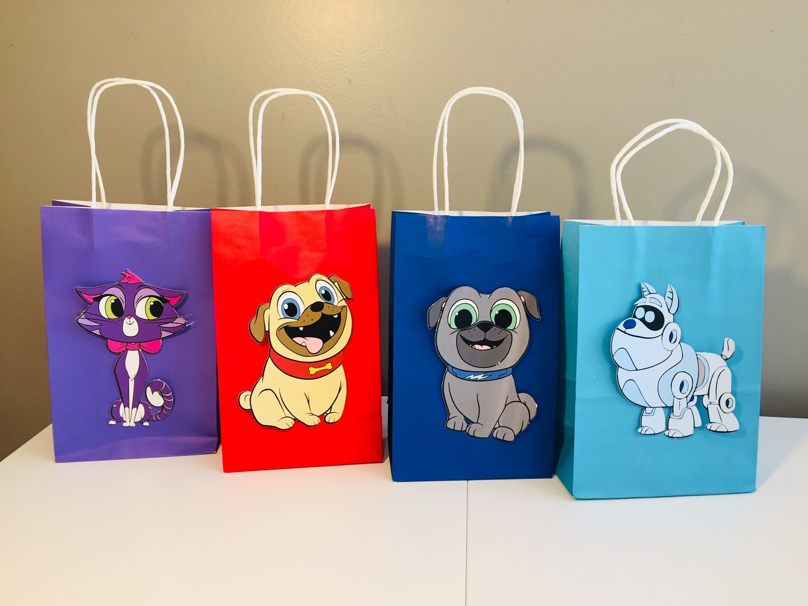 Puppy Dog Pals bags Dog themed birthday party, Puppy