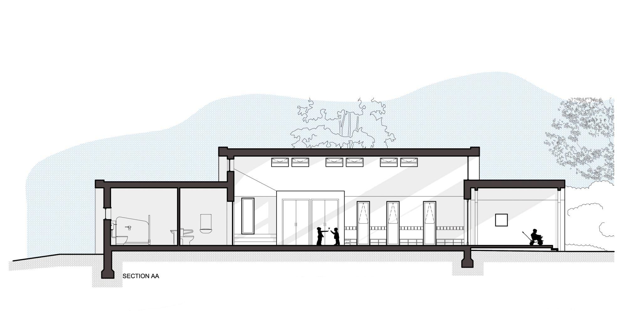 Interior design section a view plan and sketch friendly school interior design contemporary children zone