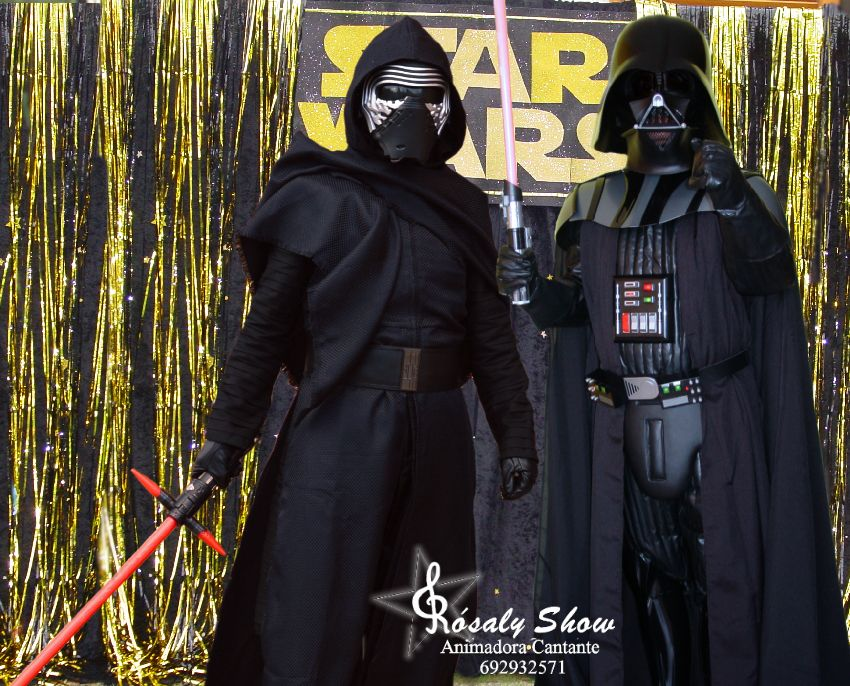 Kylo Ren y Darth Vader Eventos a domicilio, locales en Catalunya.