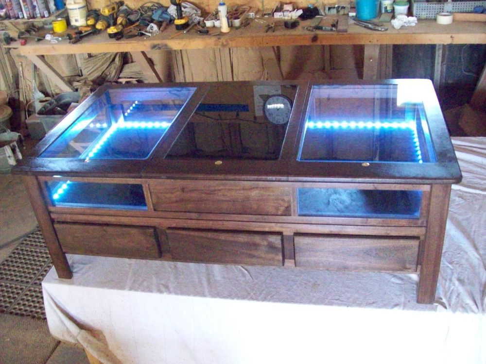 Humidor shadowbox coffee table cigar medical marijuanna storage