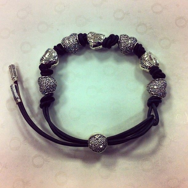 7a760a090 Great clip choice on this Pandora leather lariat bracelet | I Love ...