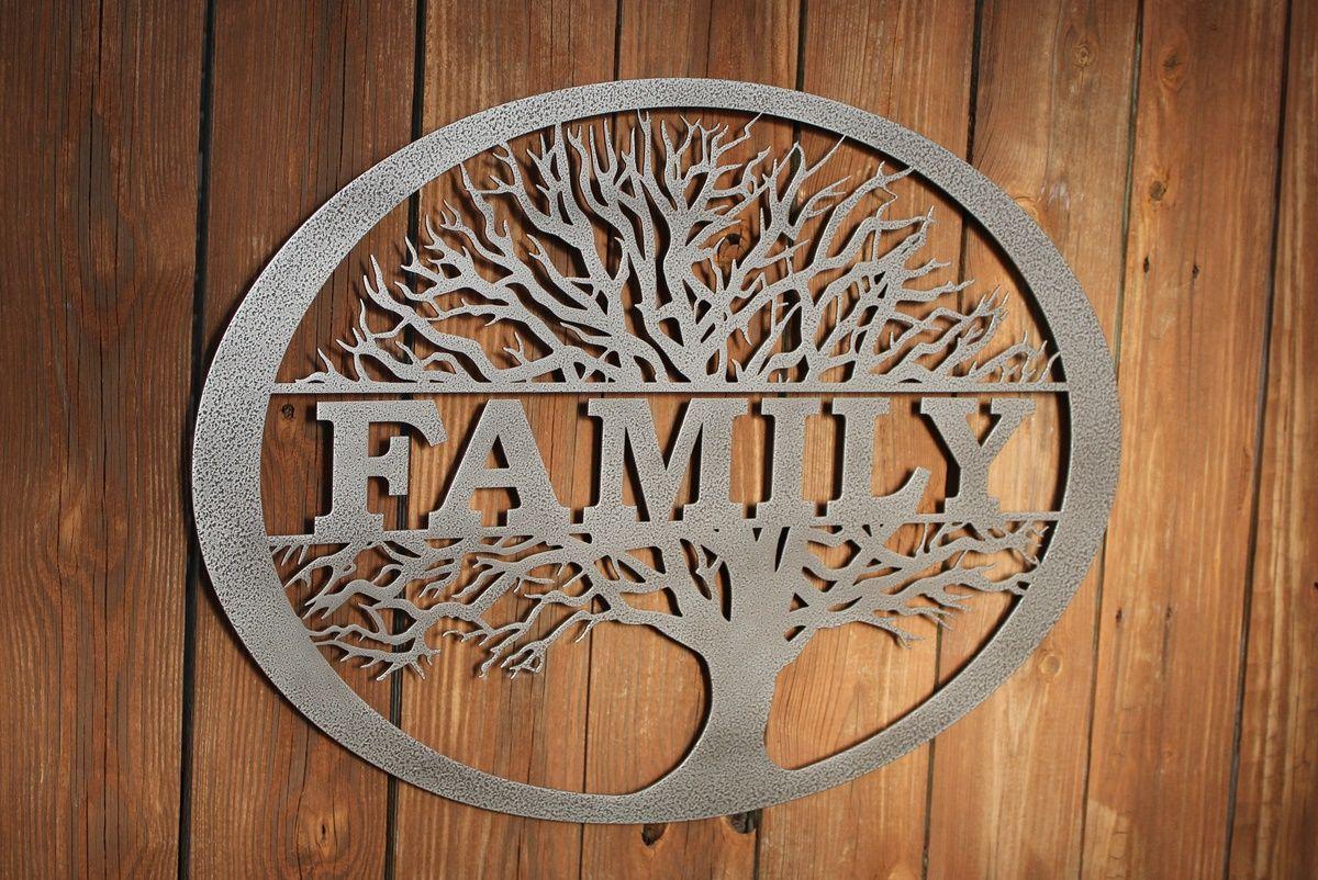 Family Tree Personalized Metal Wall Art Metal Tree Wall Art Metal Wall Art Tree Wall Art
