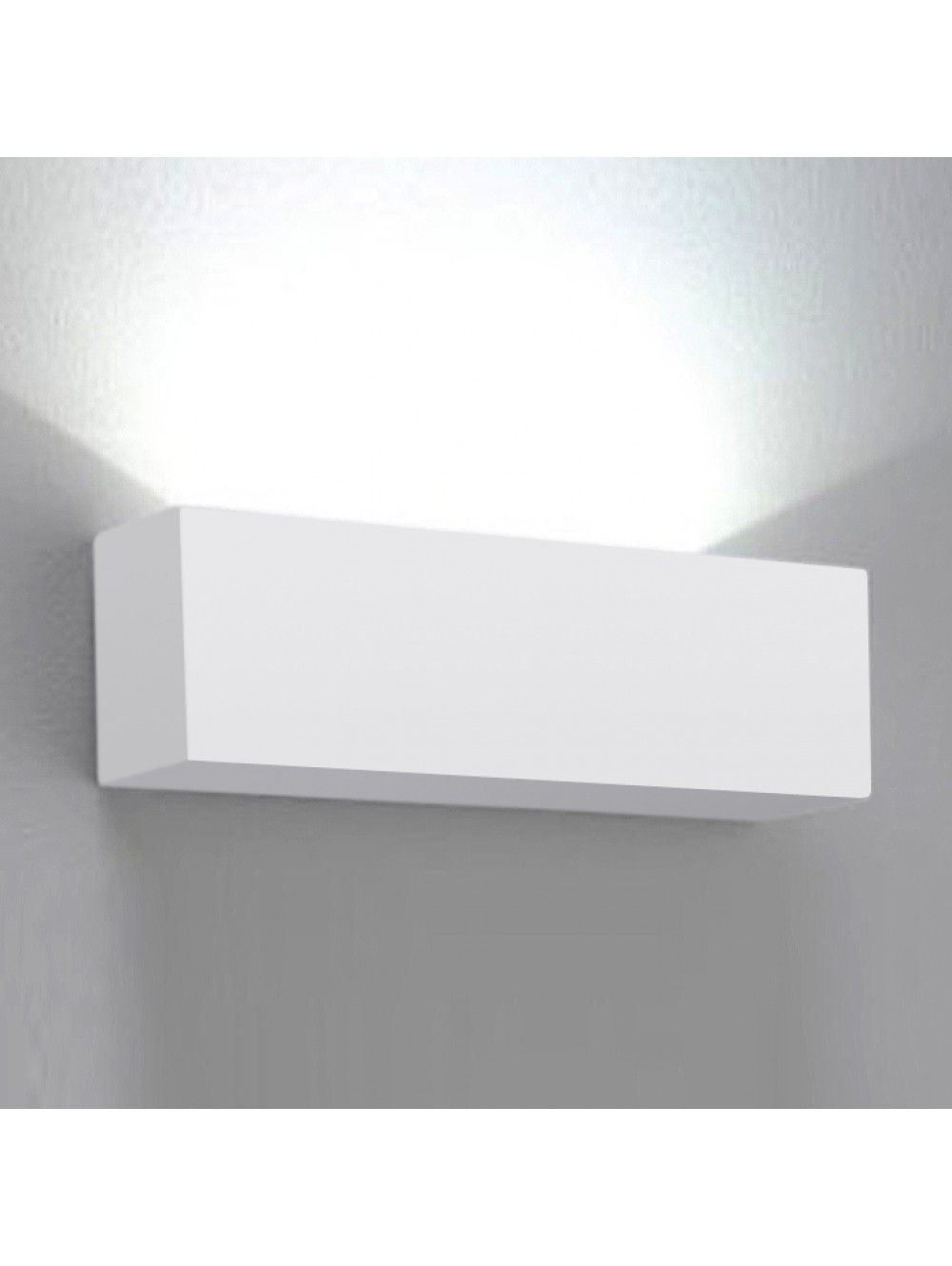 Paint Me   White Ceramic Block Wall Wash Sconce   Buy Here Now