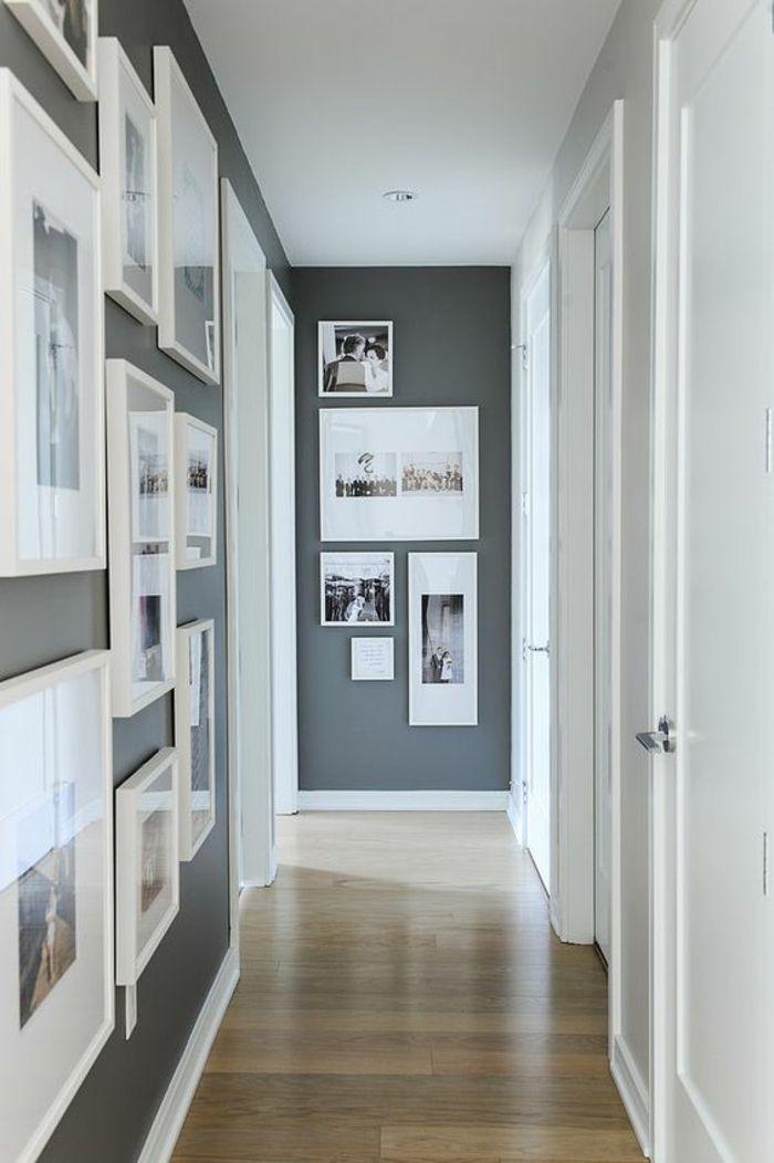Fotowand selber machen Ideen für eine kreative Wandgestaltung - wohnzimmer ideen wandgestaltung grau