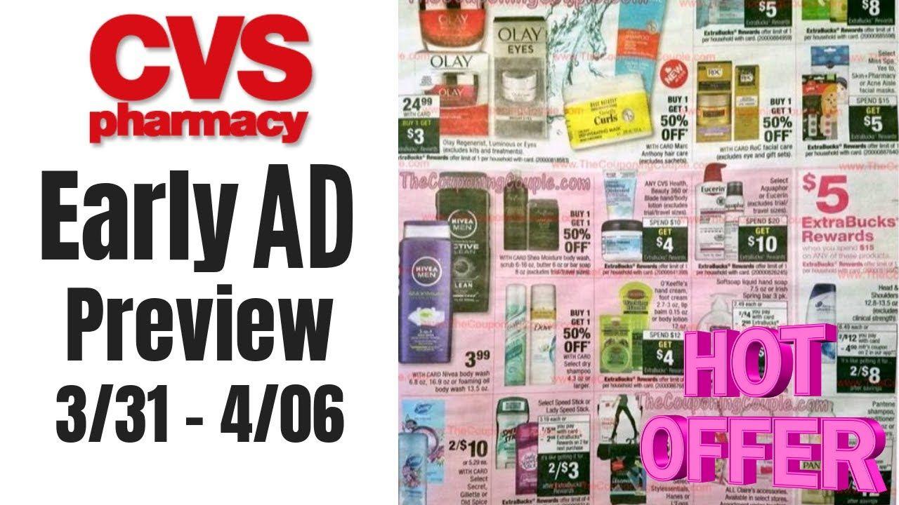 CVS AD PREVIEW CASH CARD Promo, Cosmetics, Hair Care