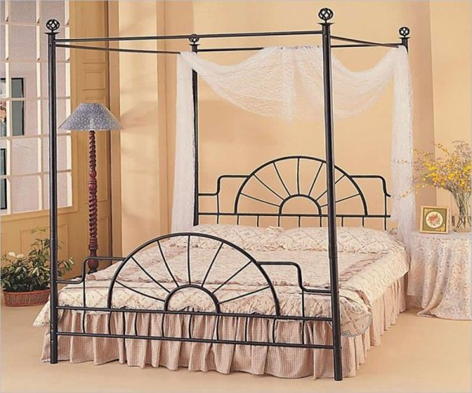 Make Canopy Bed Frame Queen From Bamboo Https Www Kokoazik Com