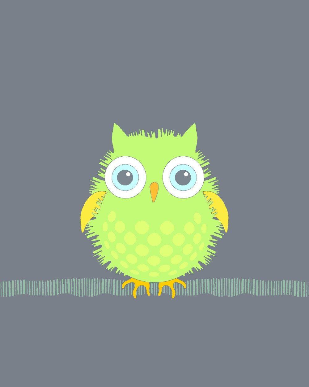 X childrenus art owl print bird nursery wall art kidus room