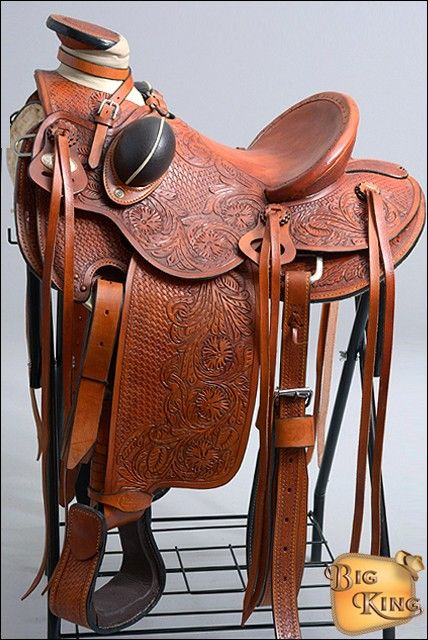 HILASON BIG KING SERIES WESTERN WADE RANCH ROPING SADDLE
