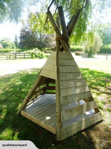 Kids outdoor wooden Teepee Playhouse | Trade Me | Kids ...