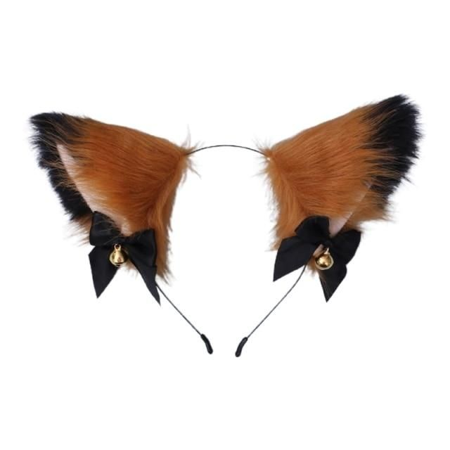 Photo of Women Sweet Lovely Anime Lolita Headband Cute Furry Plush Cat Ears Hair Hoop with Bowknot Small Bells Fancy Dress Cosplay Party – 14