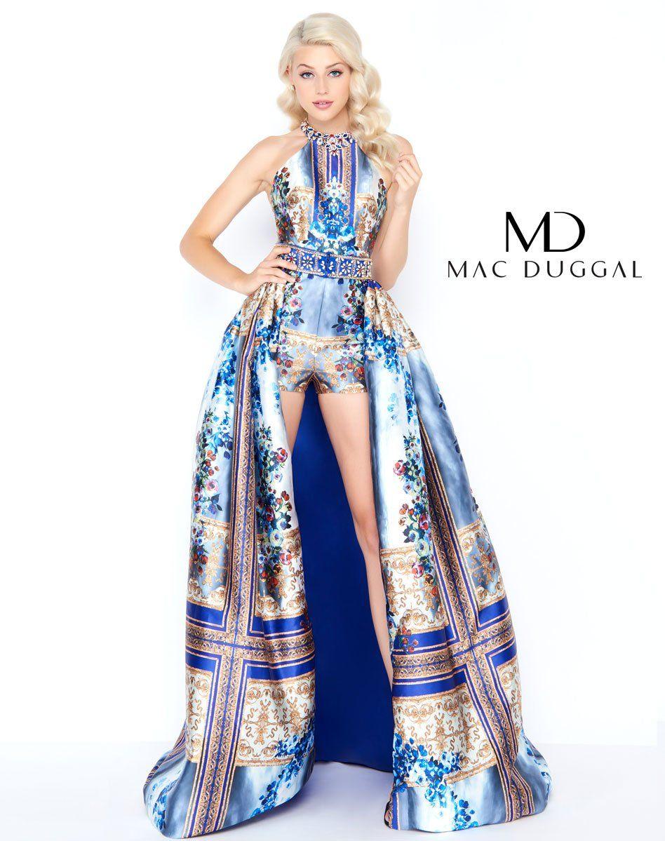 a295ce7738f0 Mac Duggal prom dress. Prom romper featuring a