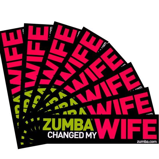 Zumba bumper sticker zumba changed my wife