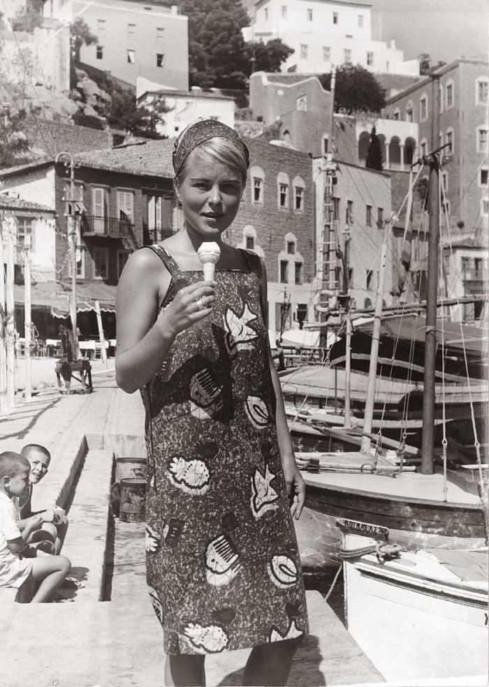 "<b>Marianne Ihlen</b> at the port of Hydra in 1962, two years after she met Leonard Cohen. ""So Long Marianne"""
