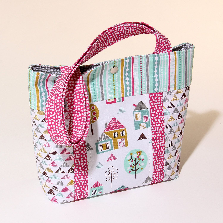 Sewing Pattern Petite Street Child\'s Tote Bag PDF Download PN8106 by ...