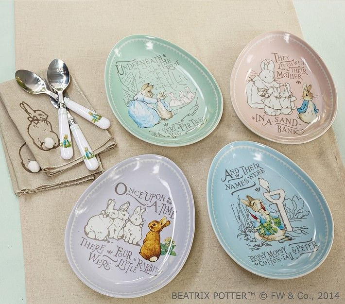 Peter Rabbit Easter Ceramic Plate Set Easter Table