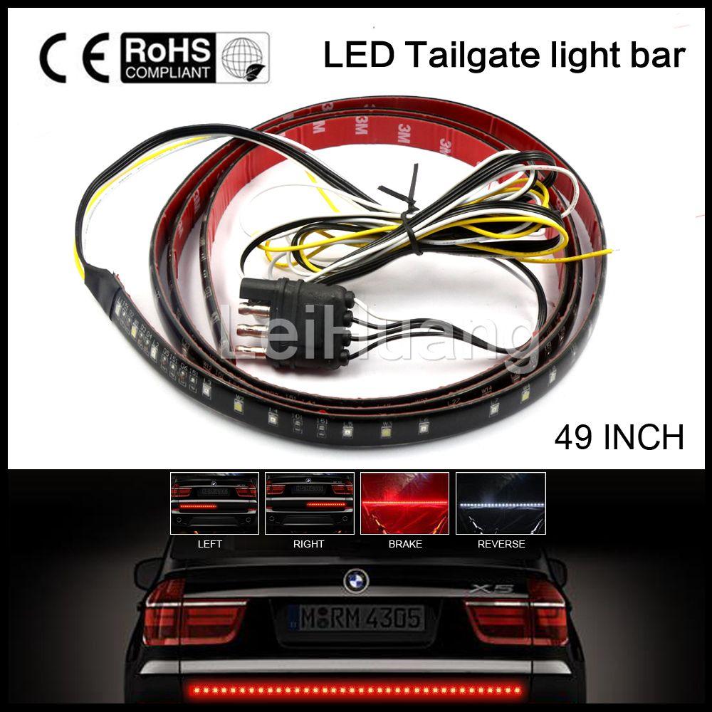 """49/"""" LONG Tailgate LED Light BAR Full Functions RUNNING//SIGNAL//REVERSE//Brake"""