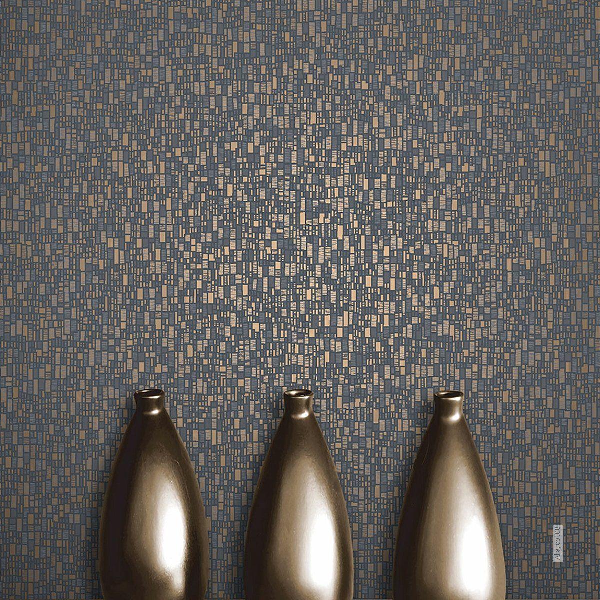 Hochwertige Tapete Mit Metallic Gold Schimmer 1