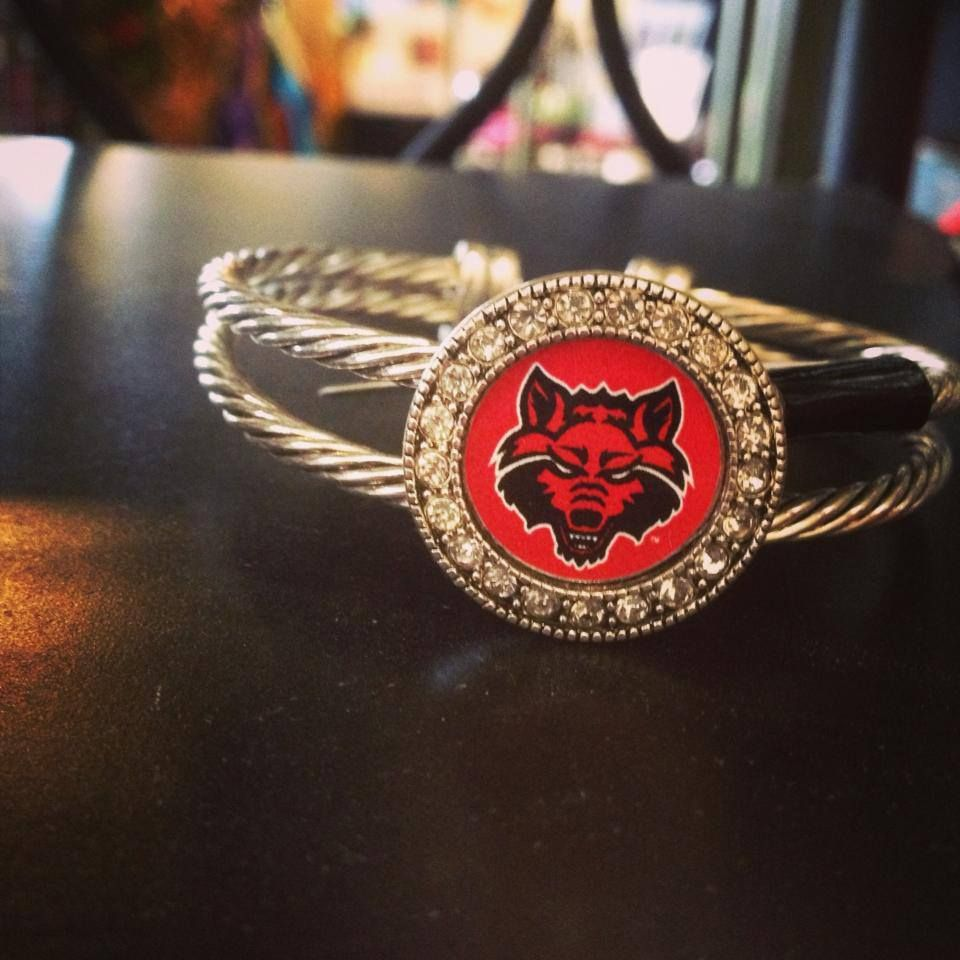 Red Wolves Bracelet Available At Bennett S Flowers 110 Southwest Dr Jonesboro Ar 72401 Www Bennettsflowers Com Red Wolf Baby Wolves Bull Riding