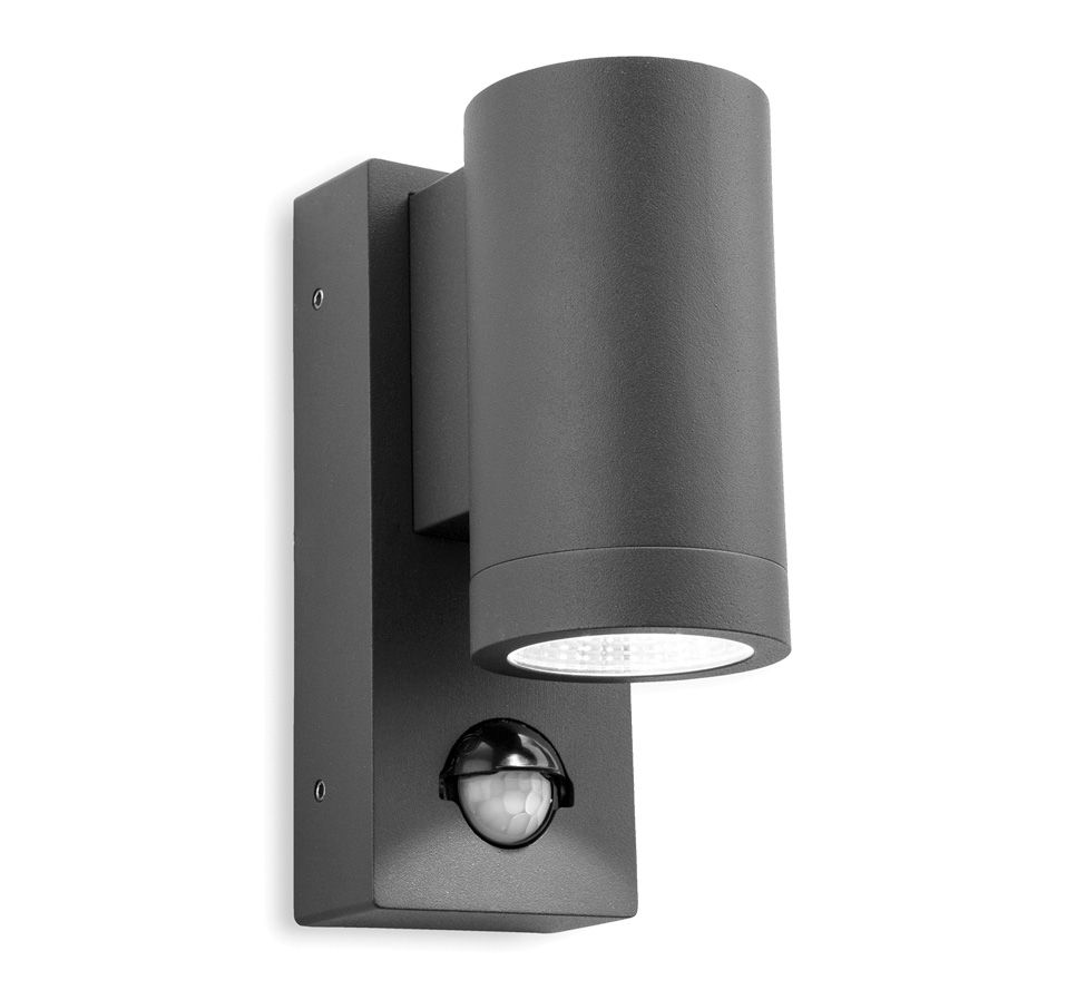 Firstlight U0027Shelbyu0027 LED 2 Light Outdoor Up U0026 Down PIR Sensor Wall Light,  Graphite Finish     Outdoor Lights   Outdoor Wall Lights