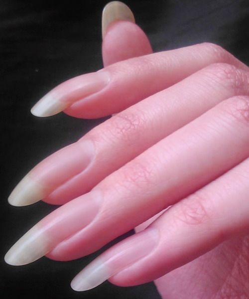 Natural Nails Acrylic Long Manicure Only