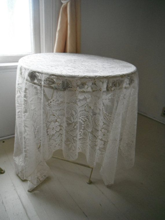 Superieur Rectangular Tablecloth Cream Lace Shabby Chic Tablecloth Vintage Wedding  Decor French Country Cottage Decor CREAM