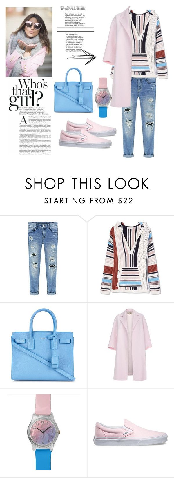 """Sorbet"" by pandabear55 ❤ liked on Polyvore featuring Tory Burch, Yves Saint Laurent, Paul Smith, May28th, Vans, women's clothing, women's fashion, women, female and woman"
