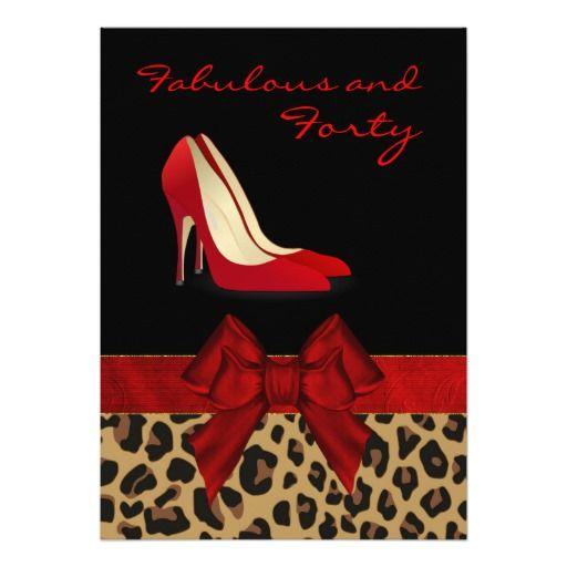 Chic Lady's Jaguar Stiletto Custom Invitation