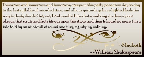 Quote From Shakespeare Macbeth This quote seems interesting. Have ...