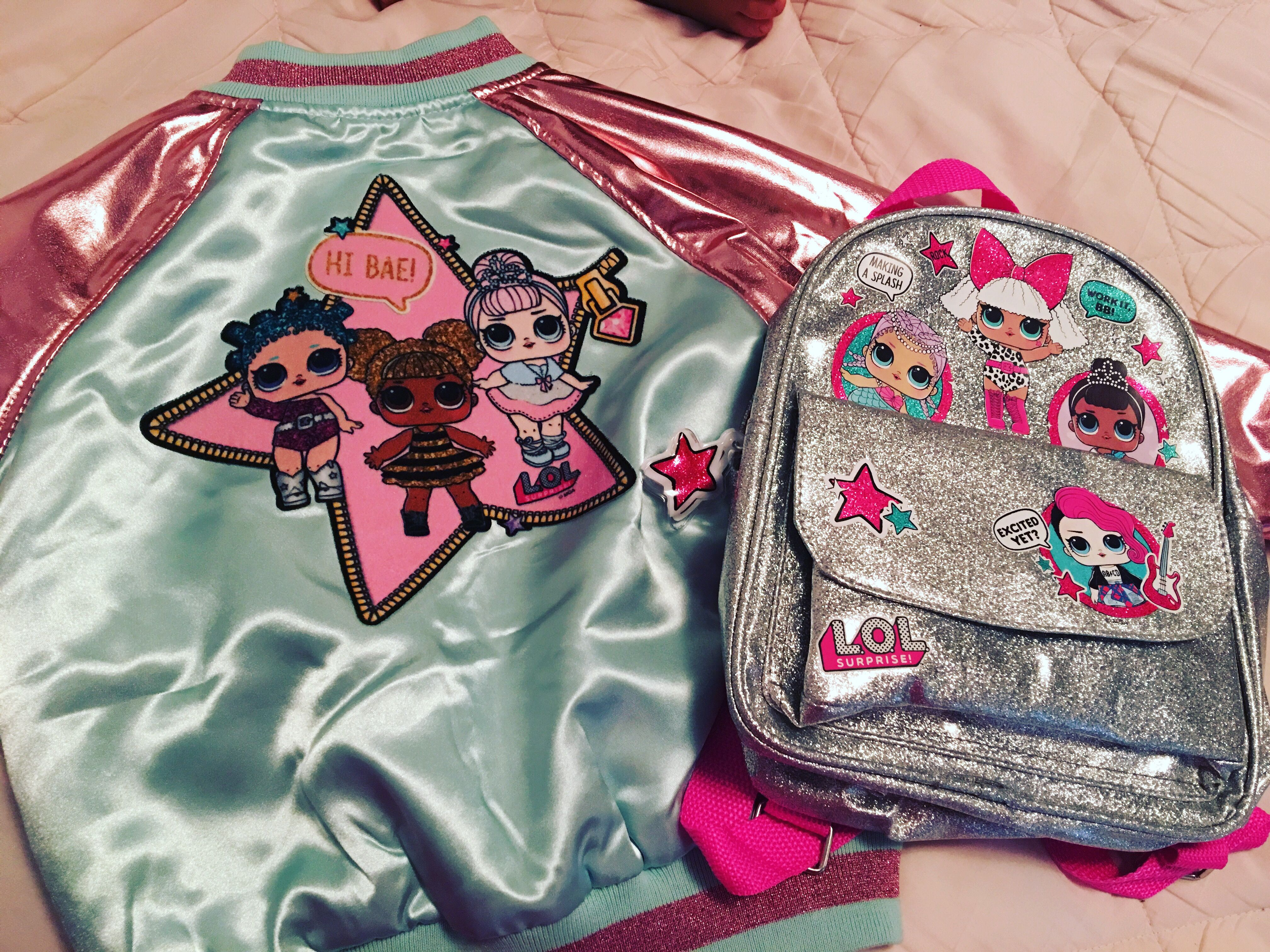 L O L Surprise Jacket And Backpack Little Girl Outfits Lol