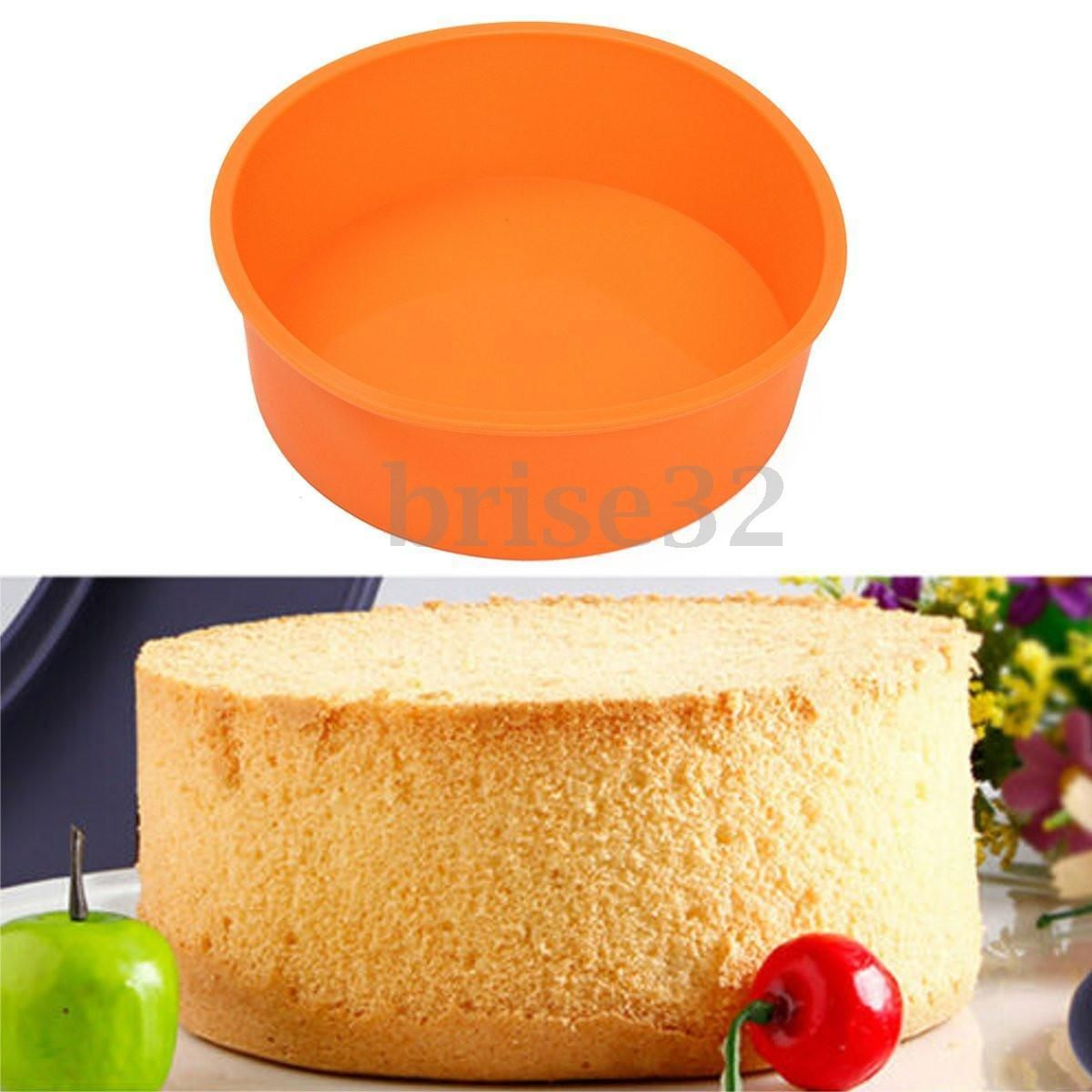 7 Round Silicone Cake Mold Pan Muffin Chocolate Pizza Pastry