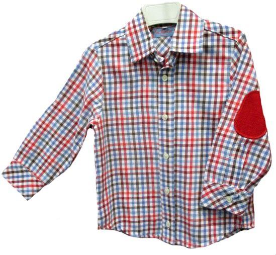 6e833f615 Camisa de manga larga con estampado de cuadros y coderas - Jerseys y Camisas  Niño y Niña - Mundo Kiriko