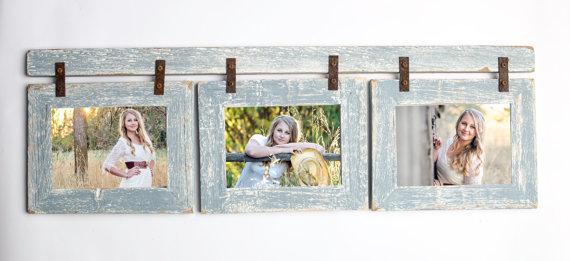 Barnwood Collage Sky White Frame 3 8x10 Multi Opening Frame