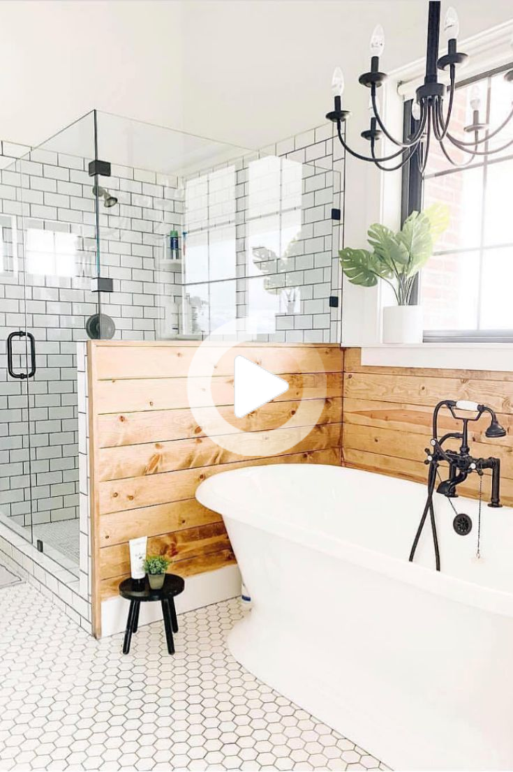 35 Simple And Beautiful Small Bathroom Ideas 2019 Page 9 Of 37 In 2020 Bathroom Farmhouse Style Bathroom Remodel Master Farmhouse Master Bathroom