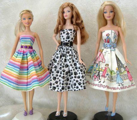 Free Doll Sewing Patterns - Barbie | Bonecas com Tecido, Eva e Renda ...