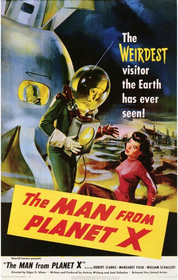 The Man From Planet X movie poster. Retro futurism back to the ...