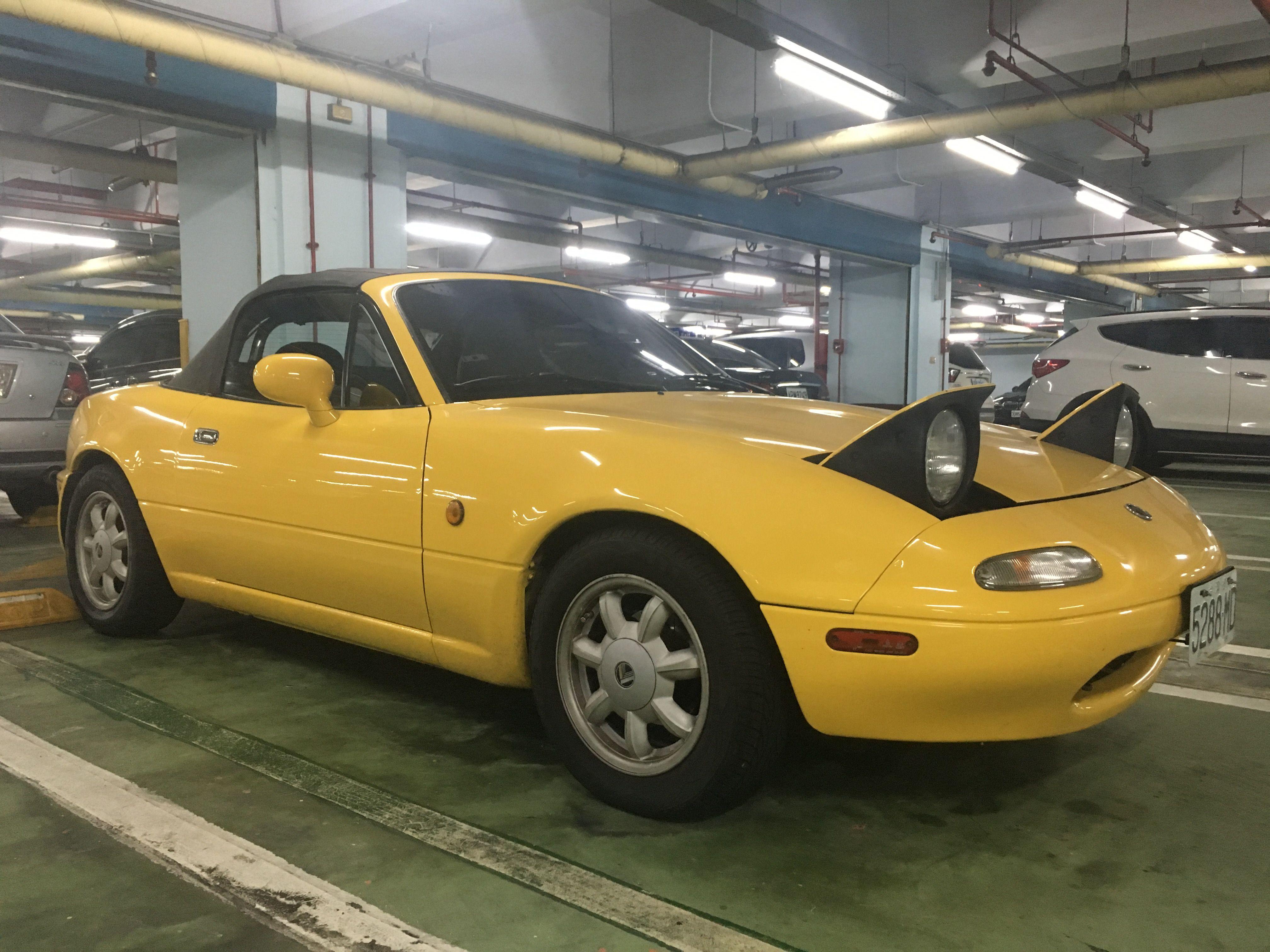 Yellow Miata