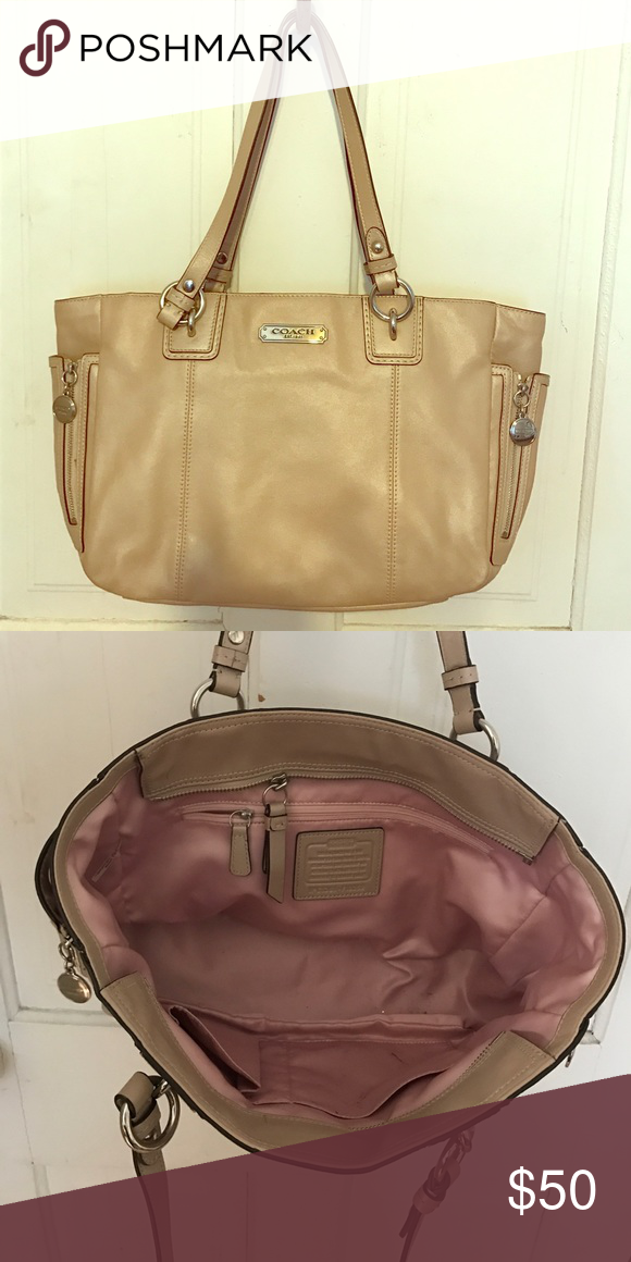 91ce1438f8 ... reduced coach handbag pearlized color gentle used good shape gently used  coach handbag. great pearlized