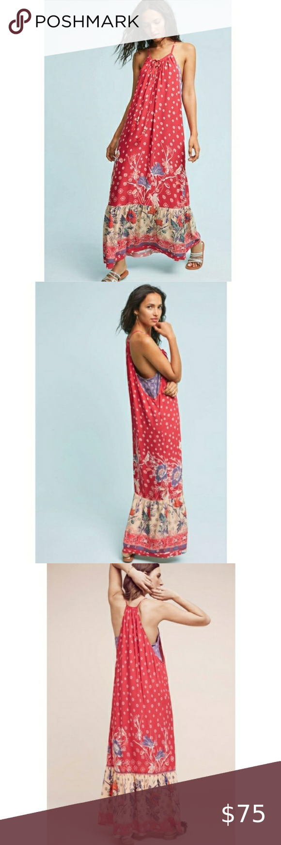 Anthropologie Maeve Red Floral Maxi Dress Red Floral Maxi Dress Purple Floral Maxi Dress Floral Maxi Dress [ 1740 x 580 Pixel ]