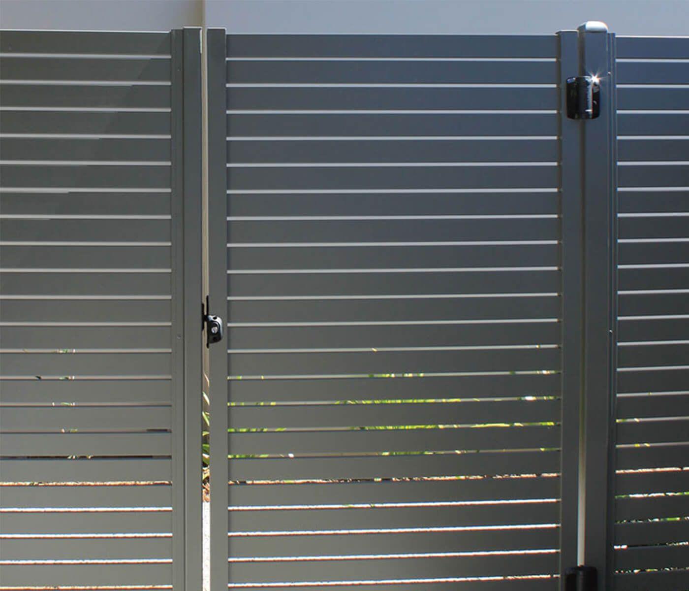 Horizontal Slat Fencing Aluminum Easy To Install Horizontal Slat Fence Aluminium Gates Slatted Fence Panels