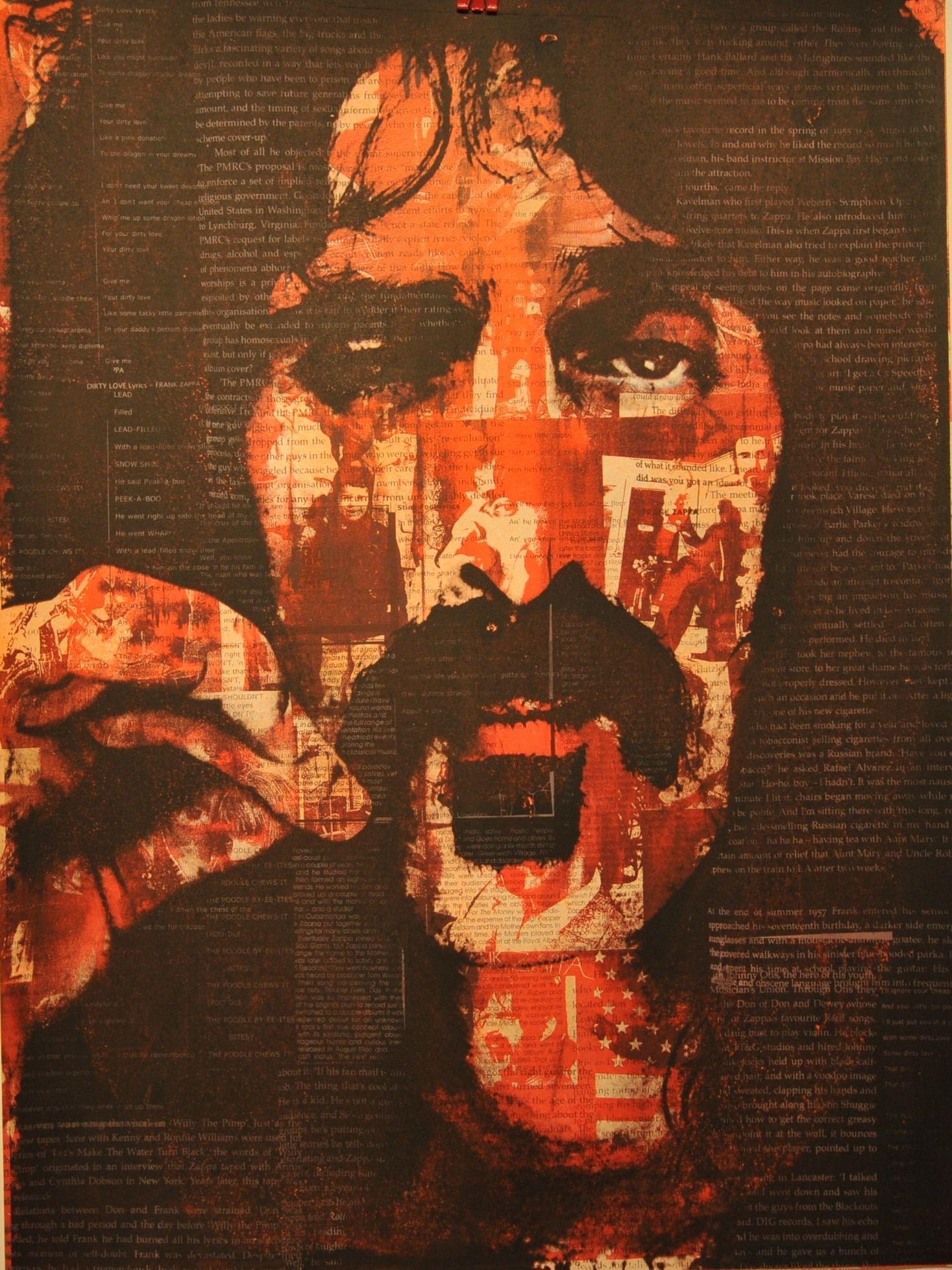 Frank Zappa Silk Screen Print by Donald Topp