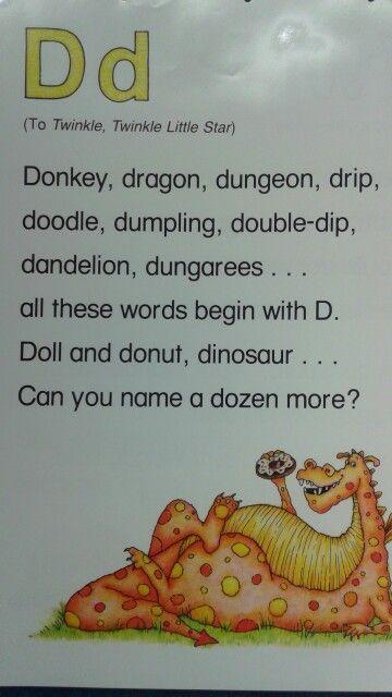 D Alliteration Poem   Alliteration   Pinterest ...