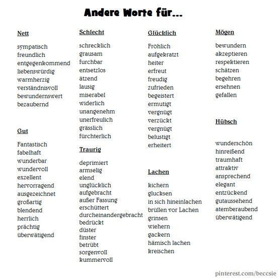 Kennenlernen andere wörter
