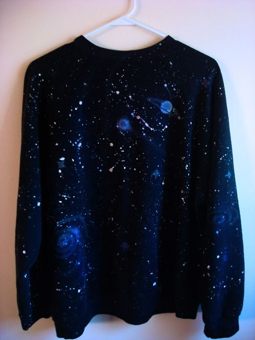28fed26d963640 Unisex space sweater - hand painted. I love it! Want