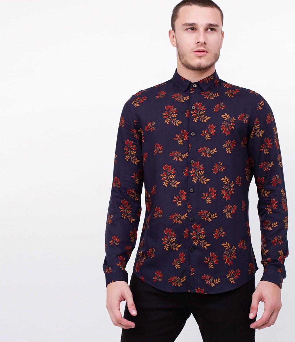 3bab77f2f Camisa masculina Manga comprida Floral Marca  Request Tecido  voal  Composição  100% viscose
