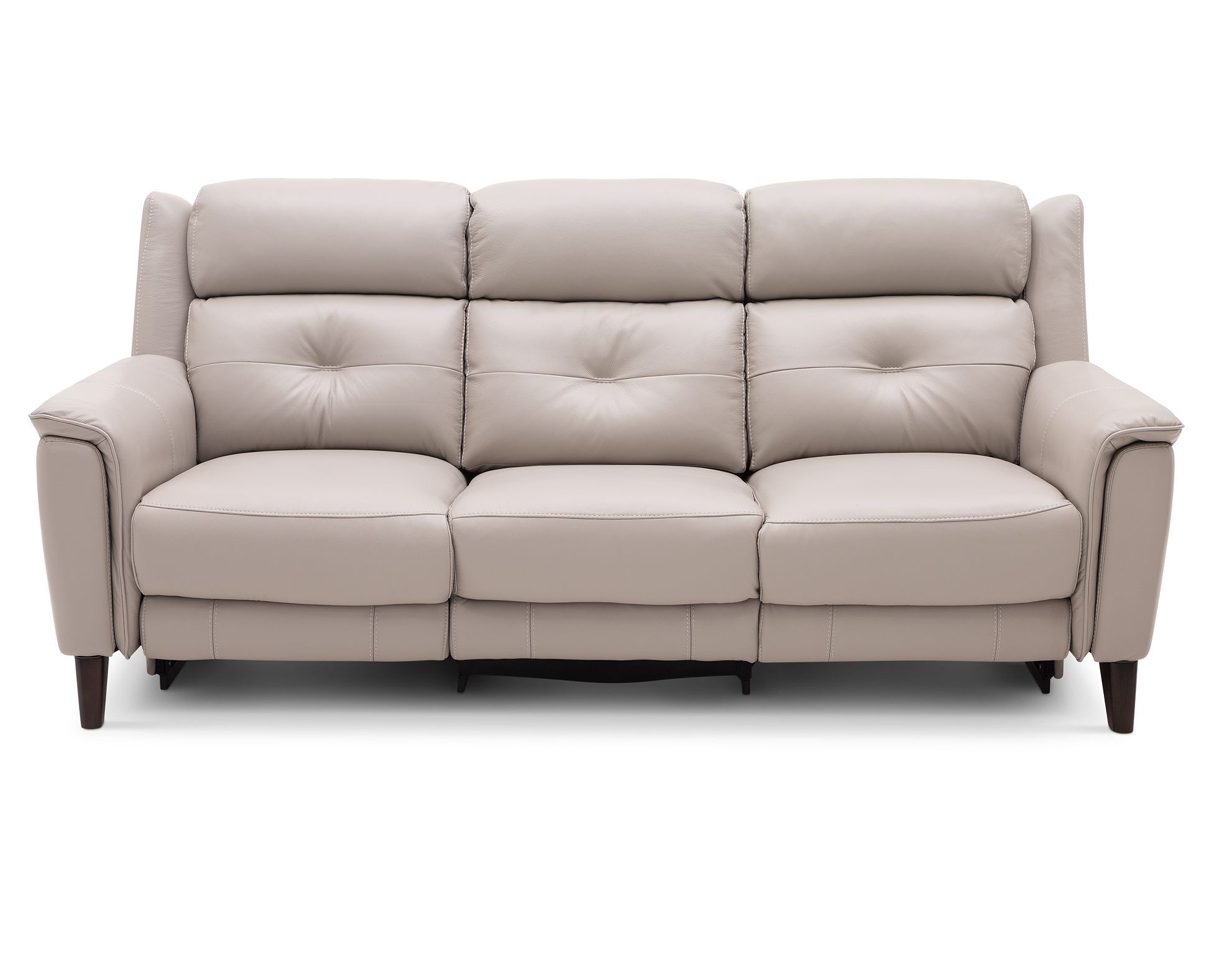 Eclipse Reclining Sofa In Heavyweight Leather Adds Designer Inspired Flair To Your Space With Mid Century Modern Style F Rowe Furniture Reclining Sofa Sofa