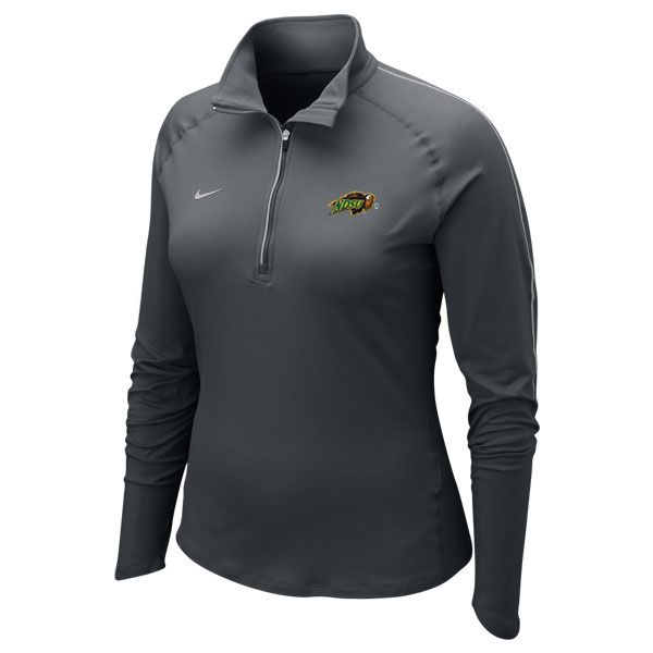 Stay cozy in the tailgating lots with this Long Sleeve Training Top - Ladies 1/4 Zip by Nike