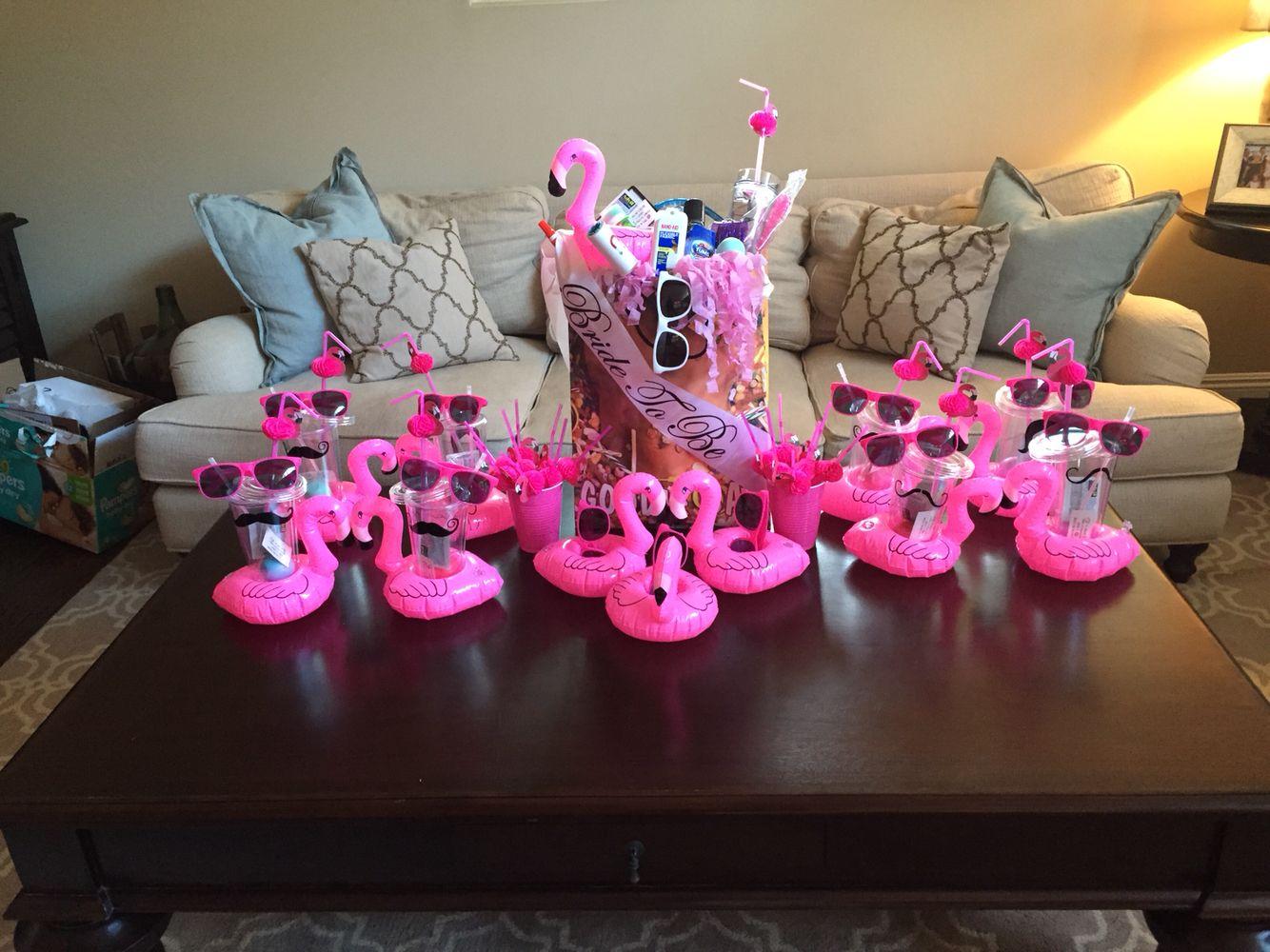 Bachelorette party flamingos amazon sunglasses etsy for Bachelorette decoration party