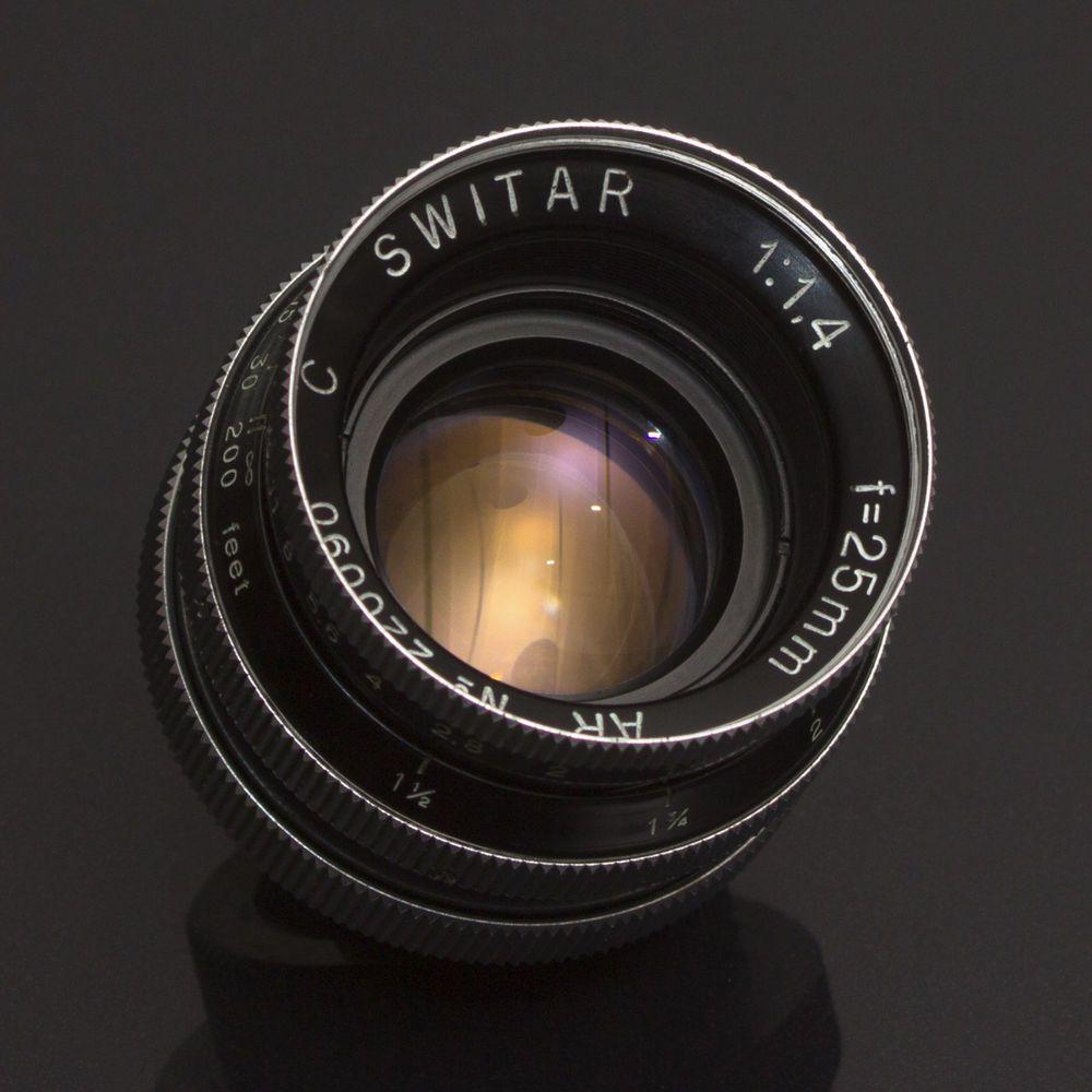 Kern Paillard Switar Ar 25mm F1 4 Fast Cine Lens C Mount Bolex 16mm M43 Bmcc Exc