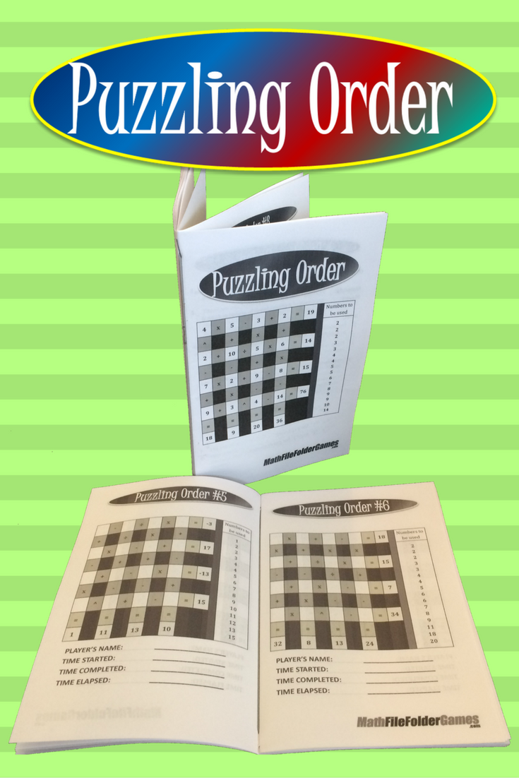 Puzzling Order an Order of Operations Game/Puzzle File