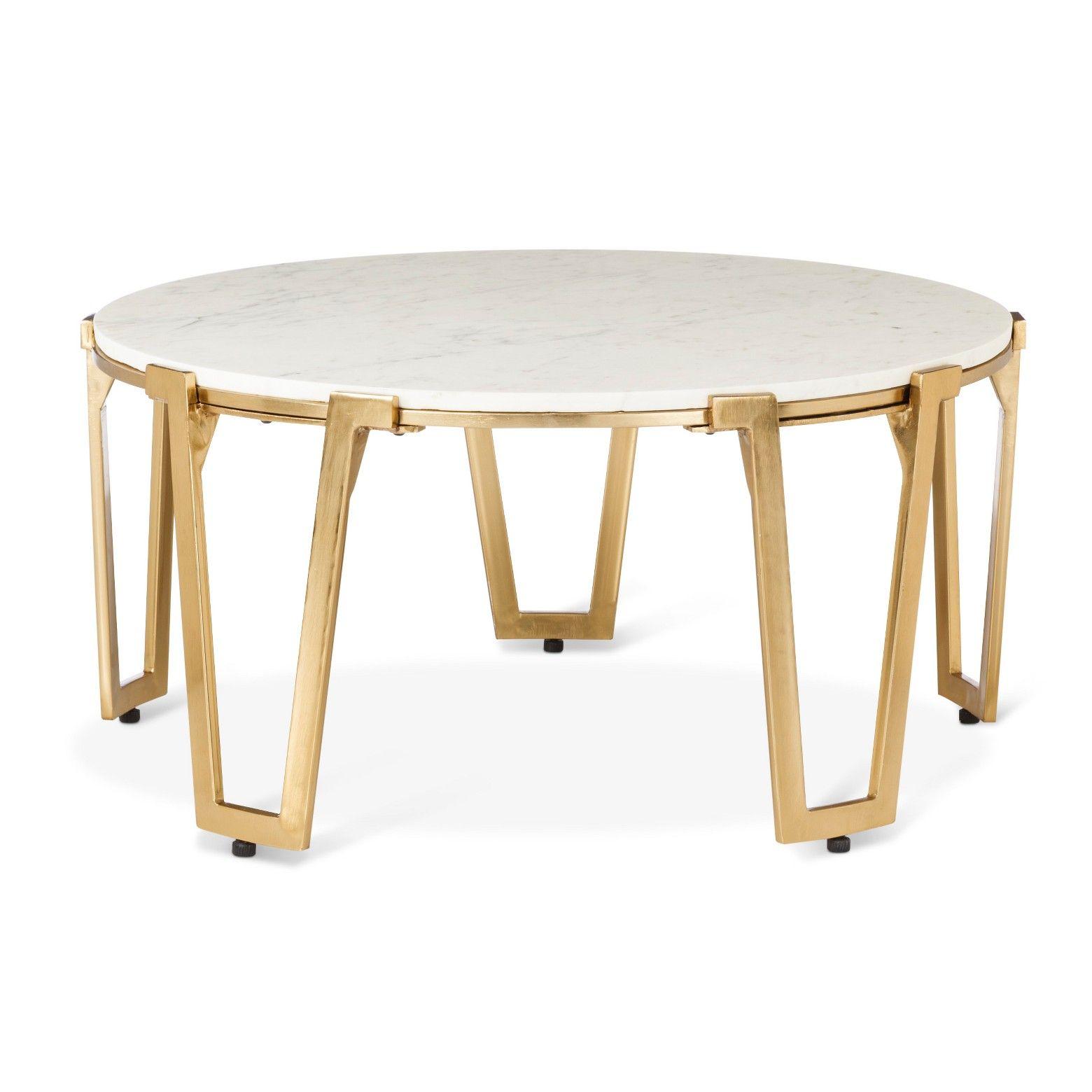 Brass and Marble Coffee Table Nate Berkus Nate berkus Tabletop